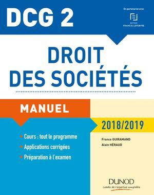DCG 2 - Droit des sociétés 2018/2019 : Manuel Ed  12